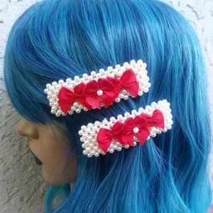 Embellished Snap Hair Clips (Pair)